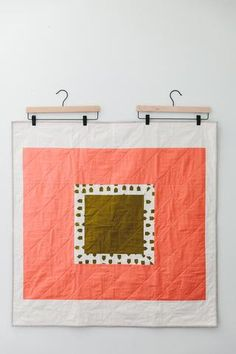 framed houses baby quilt – Salty Oat
