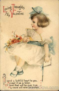 Child in White Dress with Blue Sash Ellen Clapsaddle