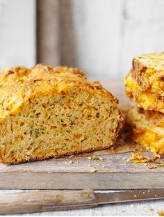 This delicious loaf is a great way to get your kids to eat more veggies, packed with grated courgettes, carrots, Red Leicester cheese and spicy paprika.