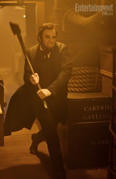 Abe Lincoln with an axe?  This seems like such a strange movie.
