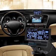 LCD Screen Digital Clock Car Voltmeter Thermometer Hygrometer Weather Forecast