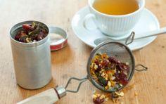 Homemade Dried Fruit and Herb Tea *lemon zest, orange zest, gingerroot, fennel, mint, dried cranberries/apricots
