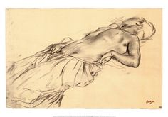 Lying Nude  Edgar Degas