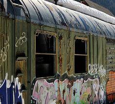Canfranc vagon abandonado