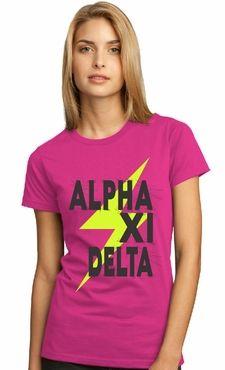 Alpha Xi Delta - lightning tee