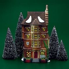 "Department 56: Products - ""Nephew Fred's Flat"" - View Lighted Buildings"