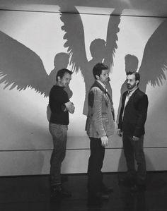 Sebastian Roche,Misha Collins andRichard Speight Jr attend the 2013'All Hell Breaks Loose IV' Convention in Sydney, Australia.