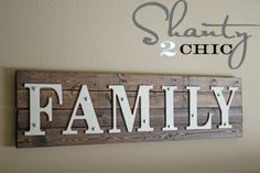 DIY Wooden Family Sign - Christmas gifts for family members 2013