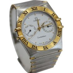 Omega Constellation TT Quartz Watch with Roman Numerals 32mm Bezel Vintage