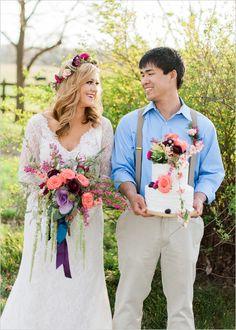 summer time wedding couple @weddingchicks