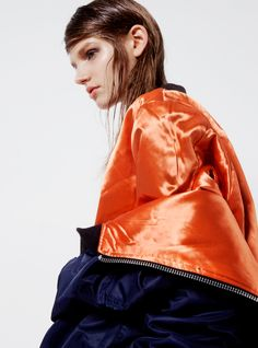 Ona, photographed by Nicolas Coulomb, styled by Daytona Williams, hair by Chiao Shen, makeup by Satoko Watanabe