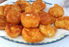 Τυροκροκέτες, τραγανές απ' έξω, βελούδινες από μέσα! Food And Drink, Potatoes, Meat, Chicken, Vegetables, Ethnic Recipes, Vintage, Gastronomia, Potato