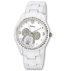 White Metal Link Mickey Mouse Watch for Women - got it for my anniversary and really like it, very cute watch