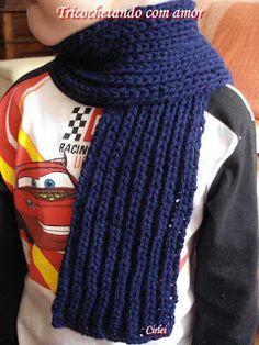 Tricochetando com amor: Cachecol de tricô