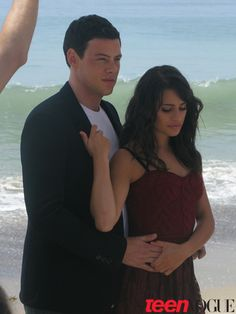 Lea Michele and Cory Monteith's Teen Vogue  Photos.. So sad he is gone! They were so cute together.