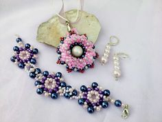 purple and pink beads set by Mirtus63 on DeviantArt