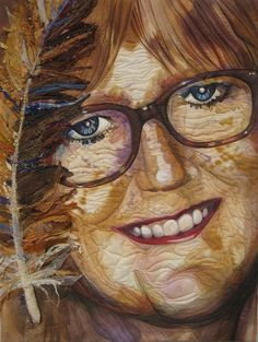 Julie Haddruck_self portrait quilt
