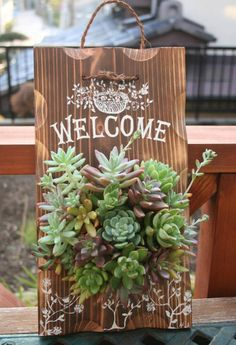 Check this amazing ideas for your small bedroom Succulents In Containers, Cacti And Succulents, Planting Succulents, Plant Projects, Garden Projects, Garden Crafts, Diy Garden Decor, Succulent Wall Art, Succulent Gardening