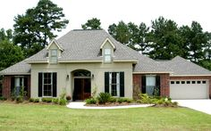 Country French House plans, Hammond, New Orleans, Baton Rouge . Townsend Homes, French Country House Plans, Country French, Louisiana Homes, Home Builders, Custom Homes, Beautiful Homes, Brick, Shed
