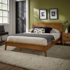 Clark Wood Platform Bed by iNSPIRE Q Modern - Overstock - 32078467