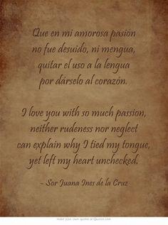 Que en mi amorosa pasión no fue desuido, ni mengua, quitar el...