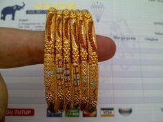 22k gold India / Dubai bangles set
