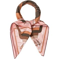 Pre-owned Herm?s Arcs En Ciel Scarf (14.015 RUB) ❤ liked on Polyvore featuring accessories, scarves, pink, colorful scarves, hermès, pure silk scarves, pink shawl and silk scarves