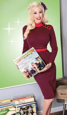 La robe Libérée sous caution | ROBES PIN UP ATTITUDE : La parfaite combinaison du sex appeal et du mystère ou comment être belle tout en étant vilaine! http://www.pinupattitude.com/gamme.htm?products_name=La+robe%20Lib%E9r%E9e%20sous%20caution_id=1#  #robe #vintage #oldschool #rock #pinup #attitude #retro #50s #rockabilly #glam #bettiepage #libereesouscaution