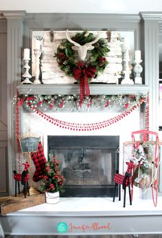 christmas mantel decor magic brush christmas mantels rustic christmas christmas 2017 christmas - Best Christmas Mantel Decorations