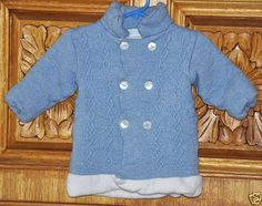 LaCicogna Made in Italy 100% Wool Sweater Jacket Light Blue Infant/Baby #LaCicogna #Everyday