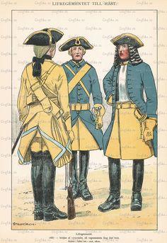 The Life regiment of horse 1687 - early 1700's by Einar von Strokirch