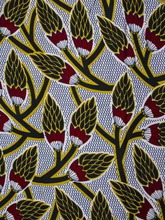 African wax print home / african fabric real wax print 6 yar Motifs Textiles, Textile Patterns, Textile Prints, Textile Design, Fabric Design, Print Patterns, African Textiles, African Fabric, African Patterns