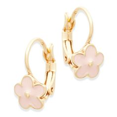 These radiant, pink flower earrings make for the perfect gift for your little one. They will match her glowing personality!  Find it on Splendor Designs