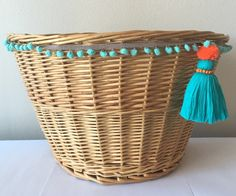 #bikebaskets #bicycles #bicyclebaskets  #baskets #tassels #bikes A personal favorite from my Etsy shop https://www.etsy.com/listing/507665582/wicker-bicycle-basket