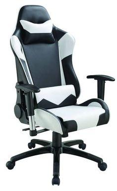 Black & White Swiveling/Tilting & Reclining Office Chair 801525