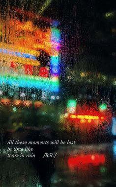 My edit qoute from Blade Runner \original picture from Background HD \