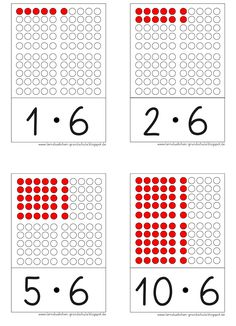 hier jetzt einmal die Kernaufgaben   auf einzelnen Karten   in einer großen und handlichen Größe     LG Gille   Schrift: Grundschrift Will ... Montessori Education, Kids Education, Elementary Math, Kindergarten Math, Math Multiplication, Math Help, Math Art, 3rd Grade Math, Math For Kids