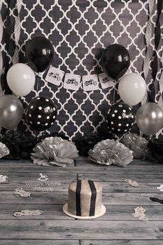 boy cake smash idea, motorcycle cake smash idea, black & silver cake smash…