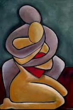 Heart and Soul - Teres Lillian Cubist Art, Abstract Art, African Art Paintings, Modern Art Paintings, Diy Canvas Art, Art Drawings Sketches, Figurative Art, Love Art, Art Pictures