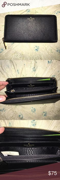 Kate Spade zip around wallet NWT Kate Spade (navy blue) NWT. Authentic. kate spade Bags Wallets