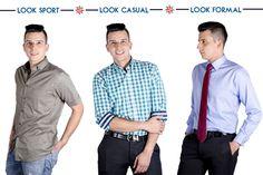 Arma tu look con nuestra variedad en camisas sport, casuales y formales para toca ocasión.  ¡Se un hombre con estilo! #look #Manizales #ModaMasculina #Estilo #Hombres #Camisas #Fashion #style #tiendaonline #Colombia