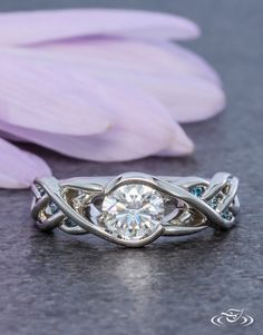 Celtic Braided Wrap Style Engagement Ring. Green Lake Jewelry 108651