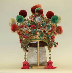 Costume (Theatrical)  Date: 19th century Culture: Chinese Medium: leather, silk, bast fiber, mirrors, metal, glass