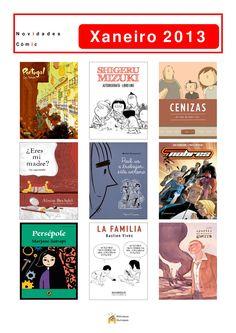 Cómics novos incorporados á comicteca da Biblioteca Os Rosales en xaneiro de 2013.