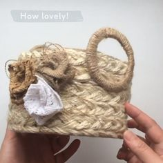 How to make a traditional wicker basket using jute By Dream Fairy DIY Diy Crafts Hacks, Diy Home Crafts, Diy Arts And Crafts, Baby Crafts, Creative Crafts, Handmade Crafts, Twine Crafts, Fabric Crafts, Cardboard Crafts