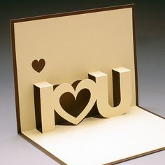 DIY  ::  I Love You Pop-Up Card  ( cdn.duitang.com/u... )