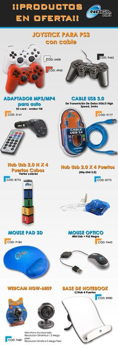 @gvinformaticaAR #Olivos_VL  Productos Noganet #Joystick #adaptadorMP3 #Cables #HubUSB #Mouse #WebCam y mucho más.  www.gvinformatica.com.ar
