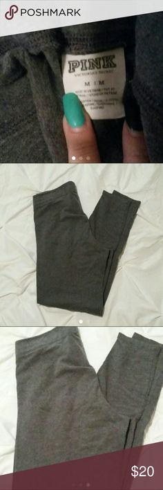 Victoria's Secret Leggings Victoria's Secret PINK Leggings size Medium. Gray in color. Victoria's Secret Pants Leggings