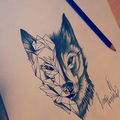 Tattoo Geometric Wolf Deviantart Ideas For 2019 Wolf Tattoos, Wolf Tattoo Forearm, Small Wolf Tattoo, Animal Tattoos, Wolf Tattoo Back, Small Geometric Tattoo, Geometric Tattoo Design, Wolf Tattoo Design, Wolf Print Tattoo