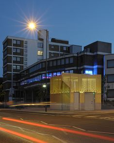 The golden exterior of this public toilet pavilion in London by British firm Gort Scott is perforated with a cascading pattern of diamond shapes. Cabinet D Architecture, Architecture Student, Urban Architecture, Wc Public, World Toilet Day, Exterior Wall Cladding, Les Fjords, Urban Intervention, Restroom Design